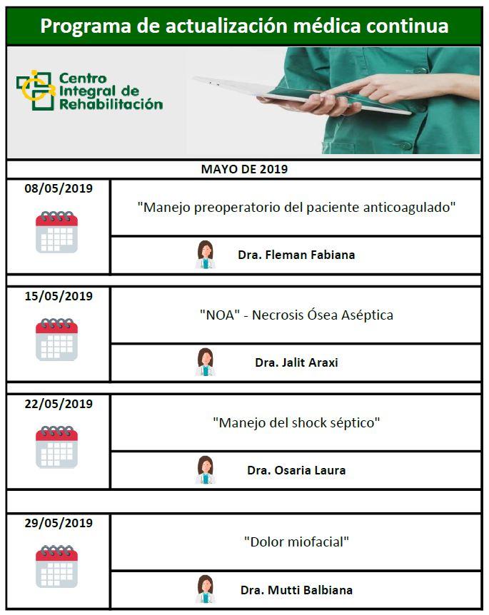 Jornadas de capacitación del personal médico