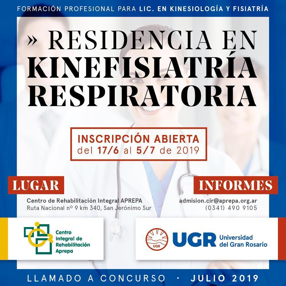 Residencia en Kinefisiatría Respiratoria
