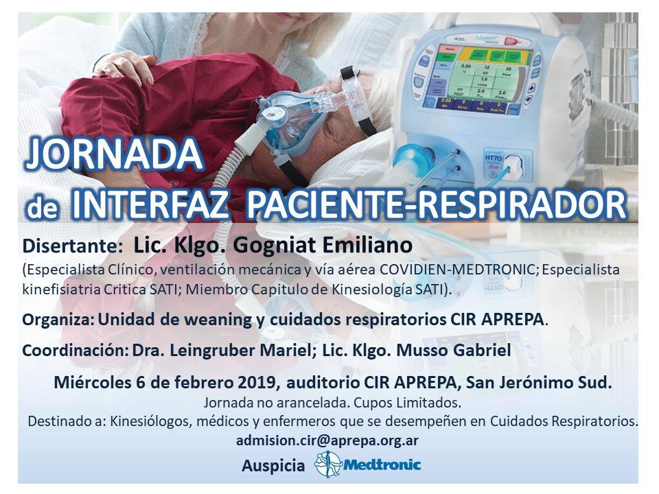 "Jornada: ""Interfaz Paciente-Respirador"""